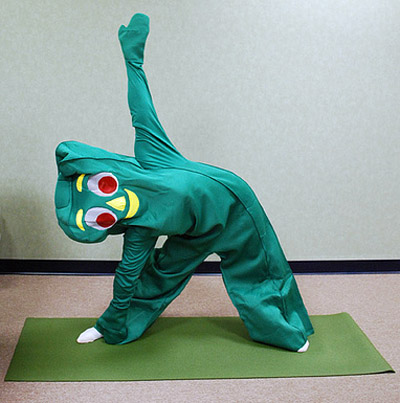 gumby does yoga