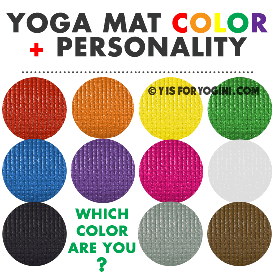 best color yoga mat for your personality meaning