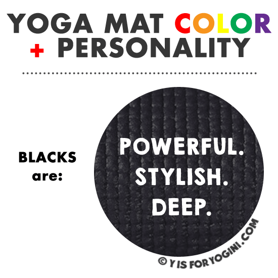 black yoga mat color personality meaning