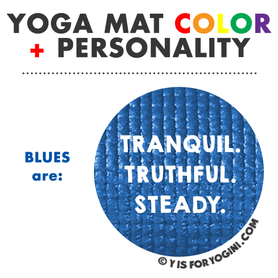 blue yoga mat color personality