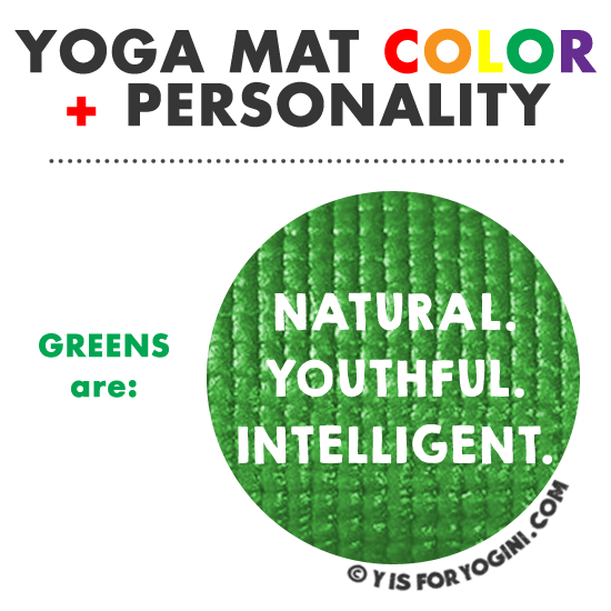 green color yoga mat meaning