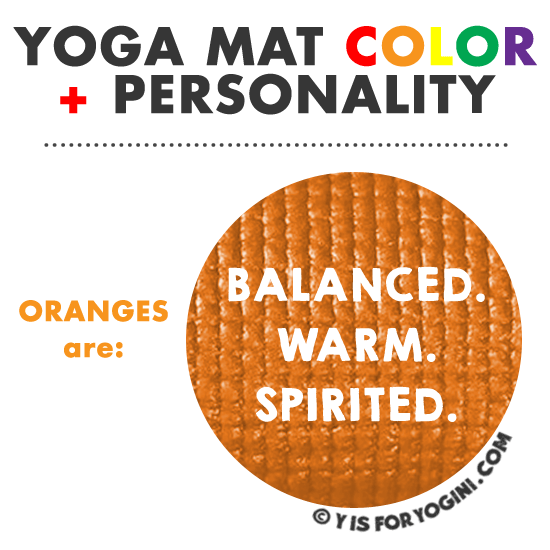 orange color yoga mat meaning