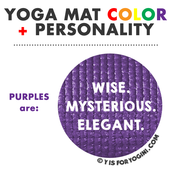 what color yoga mat purple