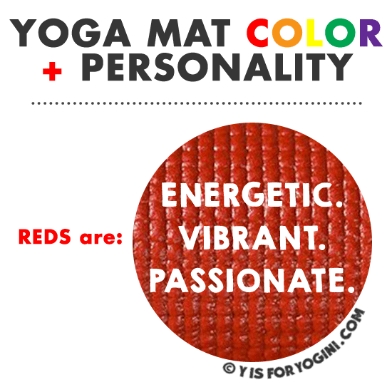 red yoga mat color personality