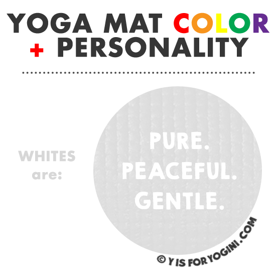 white color yoga mat meaning