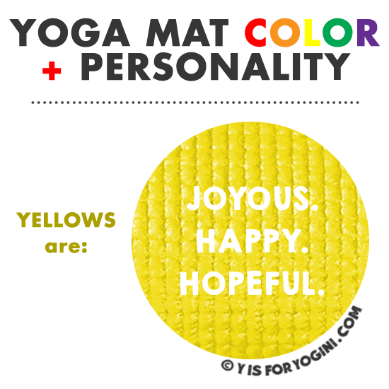 yellow yoga mat color personality