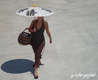 umbrella lady at wanderlust