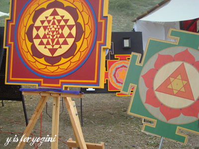 colorful yantras