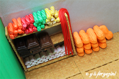 candy yoga prop wall