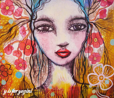 colorful butterfly girl by outi art