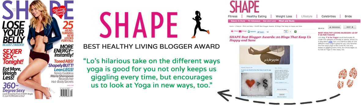 shape magazine best blog award y is for yogini
