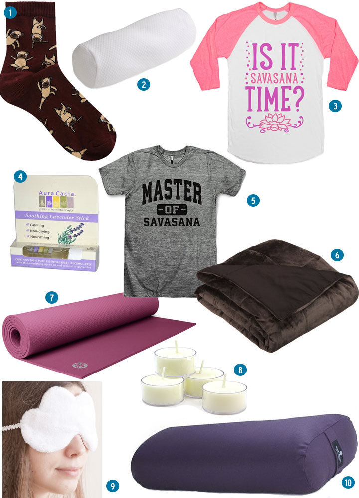 yoga gift list: savasana
